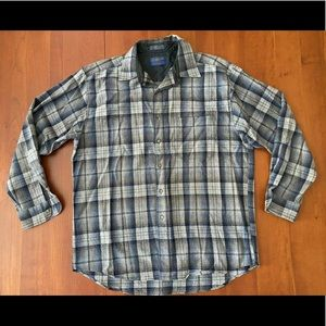 VTG Pendleton Wool Plaid Button Down Shirt Large